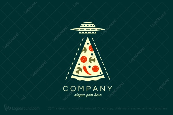 Logo for sale: Ufo Pizza Logo