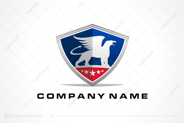 Logo for sale: American Flag Griffin Logo