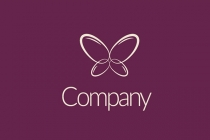 Nails Butterfly Logo  Logo