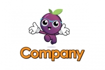 Grape Mascot Logo
