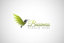 Beautiful Hummingbird Logo