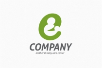 Mother And Baby - Letter E Logo
