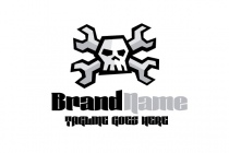Mechanic Skull Logo