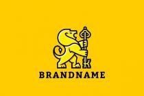 Yellow lion logo - photo#33