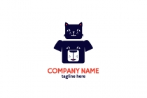 Cat On Dog Logo