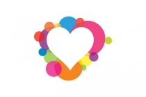 Colorful Heart  Logo
