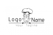 Hipster Chef Logo