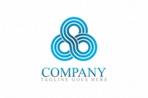 Abstract Elegant Infinity Spiral Swirl Wave Corporate Style Logo