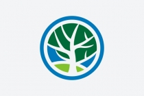 Blue Circle Tree Logo