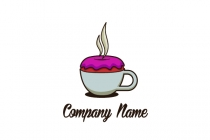 Coffee And Donut Logo Design Logo