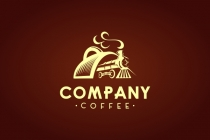 Train Coffee Cup Logo