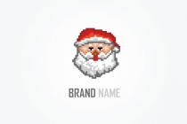 Santa Dot Matrix Logo
