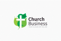 Creative Leaf Cross Church Logo