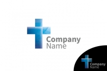 Blue Creative Cross Logo