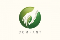 Leaf Plucking Hand Logo