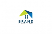 Abstract Roofing House Logo