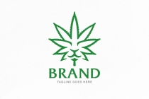 Lion Cannabis Leaf Logo
