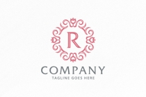 Laurel Ornamental - Letter R Logo