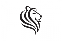Calligraphy Lion Head Logo