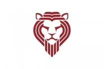 Multi Lines Lion Head Logo