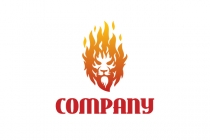 Lion On Fire Logo