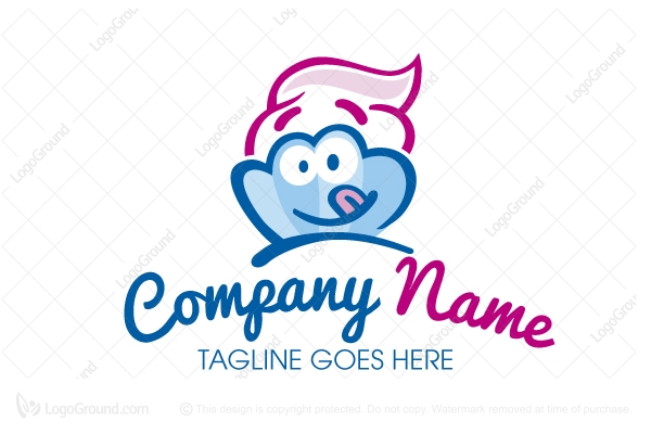 Logo for sale: Frozen Yogurt Logo