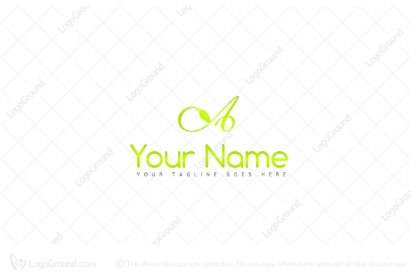 Logo for sale: Leaf Letter Logo