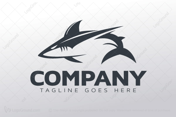 logo for sale dark shark logo