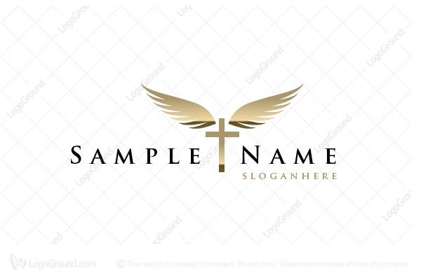 Cross With Wings Logo