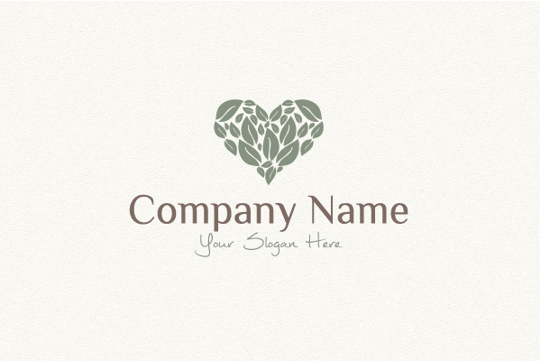 Logo for sale: Heart - Leaf Logo