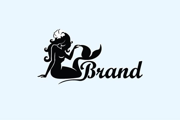 black mermaid logo rh logoground com mermaid logo for sale mermaid legos