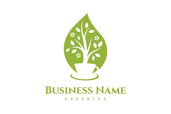 Green Tea Cafe Logo
