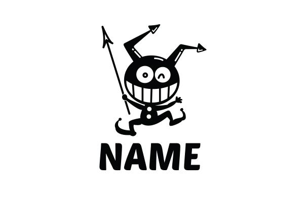 cute little devil mascot character logo rh logoground com devil's logic devil logo clip art