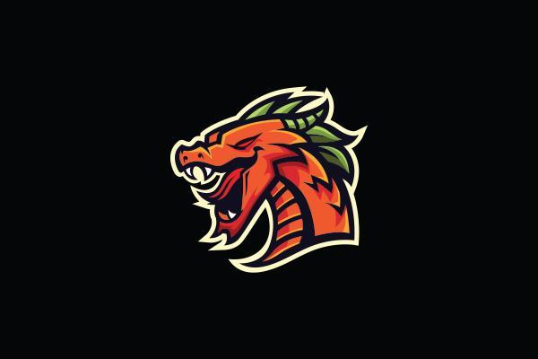 12 Logo Esport Head Dragon