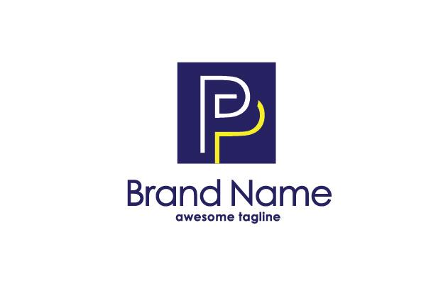 elegant letter pp logo