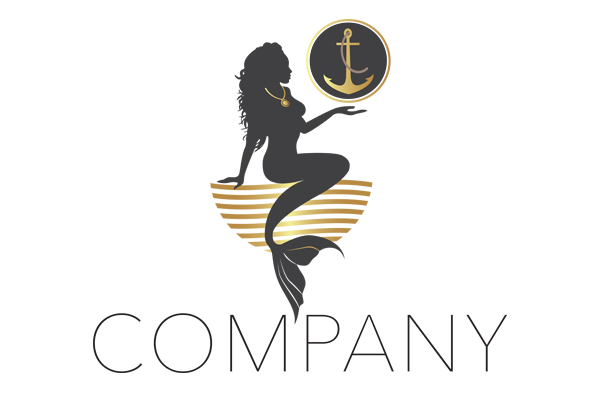 Logo for sale: Mermaid With Anchor Logo