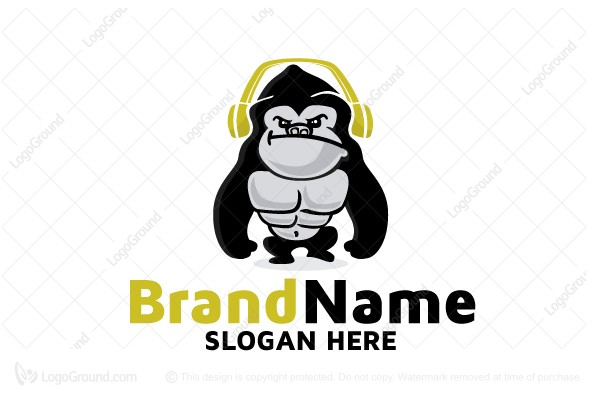 Logo for sale: Dj Gorilla Logo