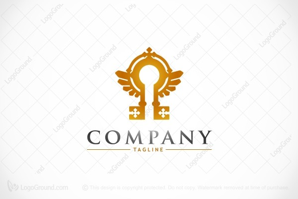 Logo for sale: The Key And The Gate Logo