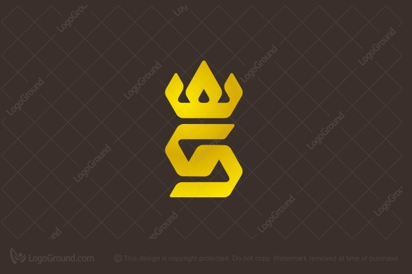 Logo for sale: Crowned S  Logo