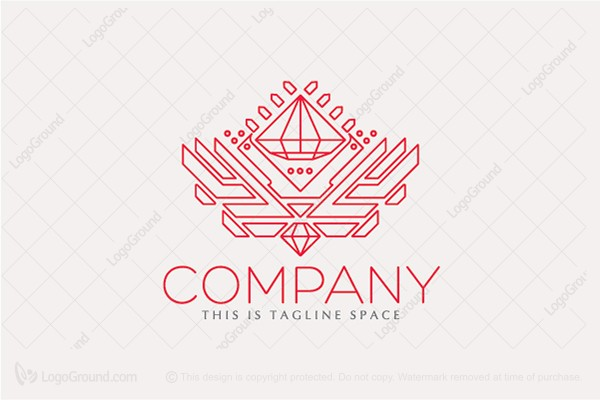 Logo for sale: Emblem, Swan, Diamond Logo