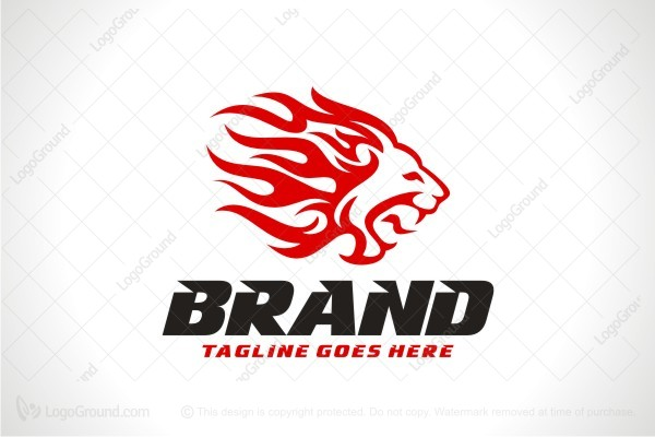 Logo for sale: Lion Flames Logo