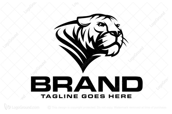Tiger head logo design - photo#29