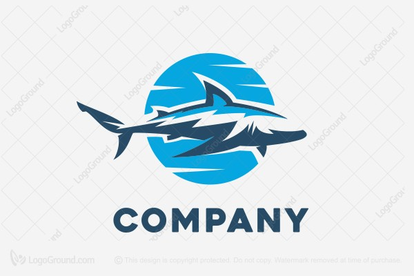 logo for sale white shark logo