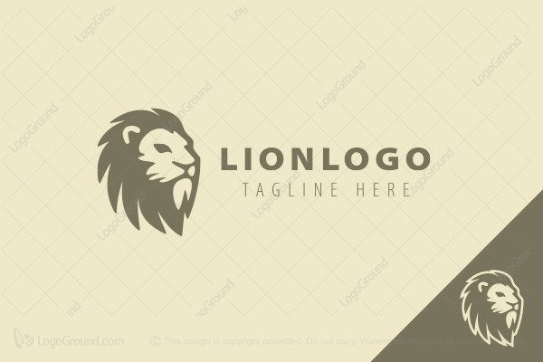 Logo for sale: Lion Head Logo