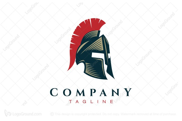Logo for sale: Spartan Helmet Logo