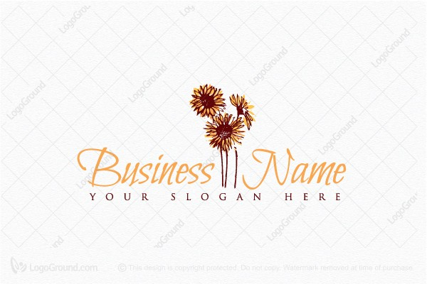 Logo for sale: Beautiful Sunflower Logo
