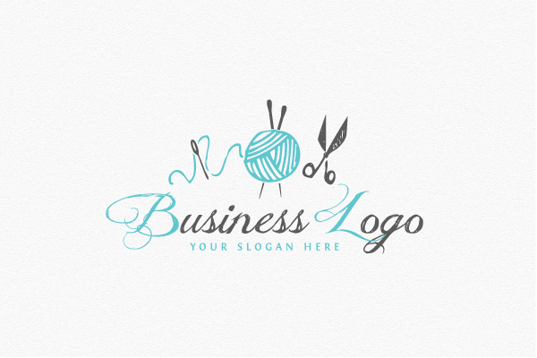 Knitting Logo Diy Logo