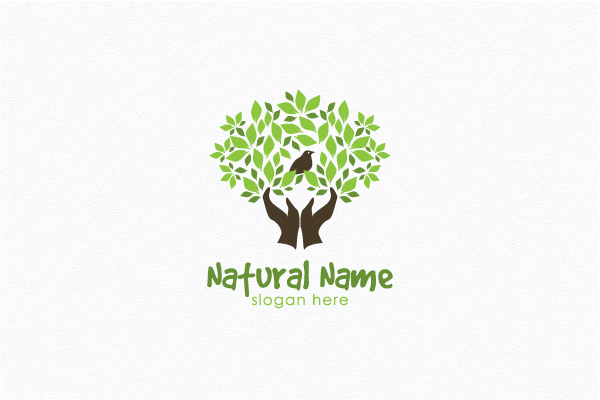Logo for sale: Tree In Hands Logo