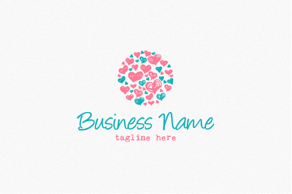 Logo for sale: Lovely Heart Circle Logo