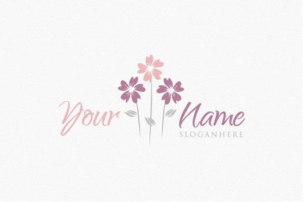 Logo for sale: Whimsical Flowers Logo